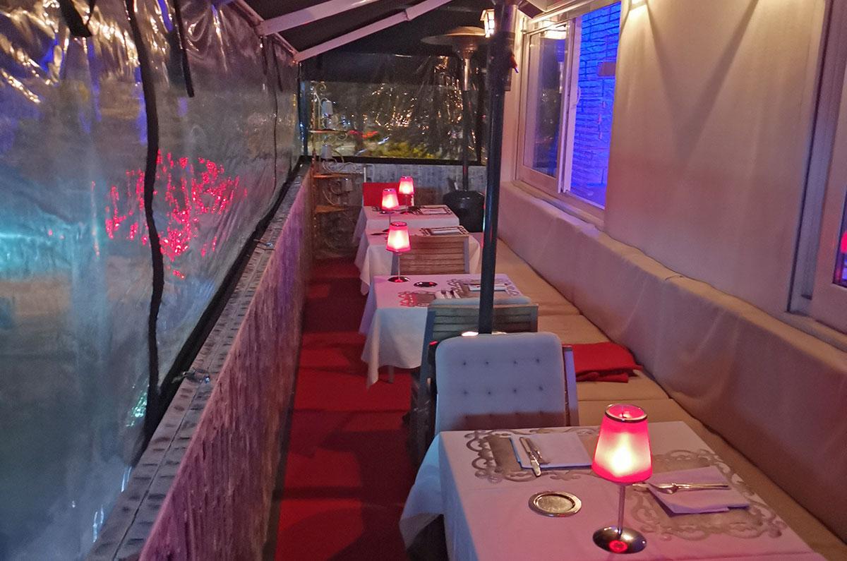 Vue de la terrasse du restaurant gastronomique Dans les Etoiles à Cergy Pontoise